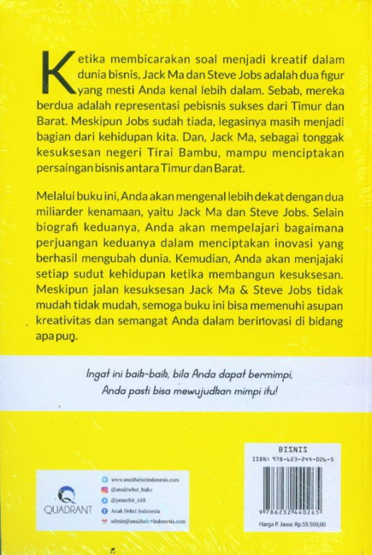 Cover Belakang Buku MAJOBS: Membongkar Rahasia Sukses Jack Ma & Steve Jobs