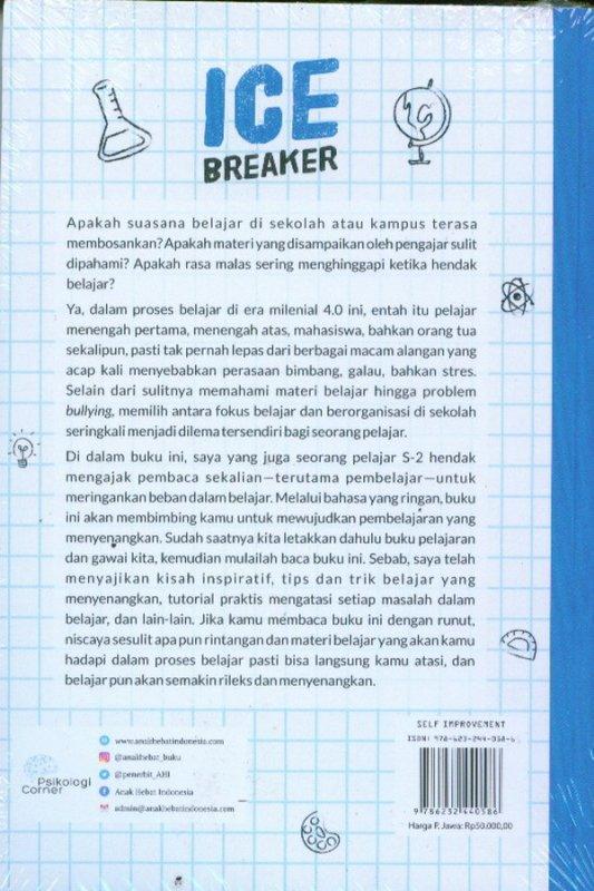 Cover Belakang Buku ICE BREAKER: Penyemangat Belajar Dari Membosankan Menjadi Rileks