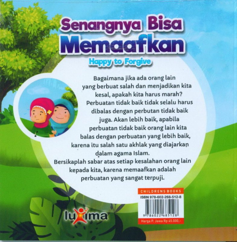 Cover Belakang Buku Senangnya Bisa Memaafkan Happy To Forgive