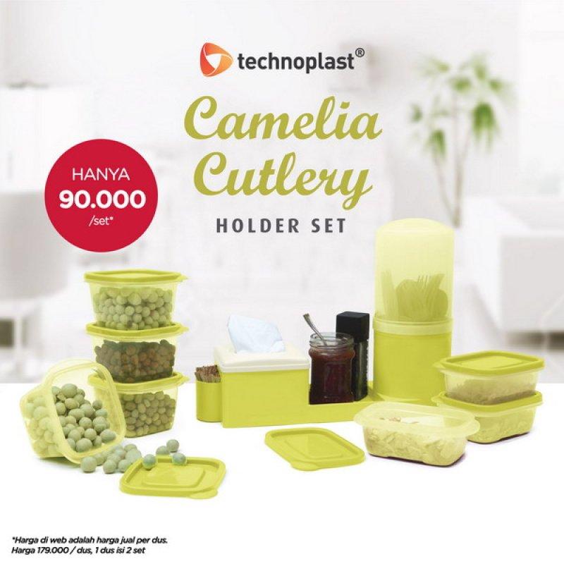 Cover Buku Technoplast Camelia Cutlery Holder 2 Set: Tempat Penyimpanan Serba Guna