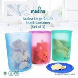 Food Storage Collection : Azalea Large Round Snack Container (Set of 3)