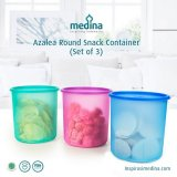 Food Storage Collection : Azalea Round Snack Container (Set of 3)