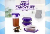 Smart Mom Candytuft Set Of 4: Tempat Penyimpanan Yang Aman Dan Anti Tumpah