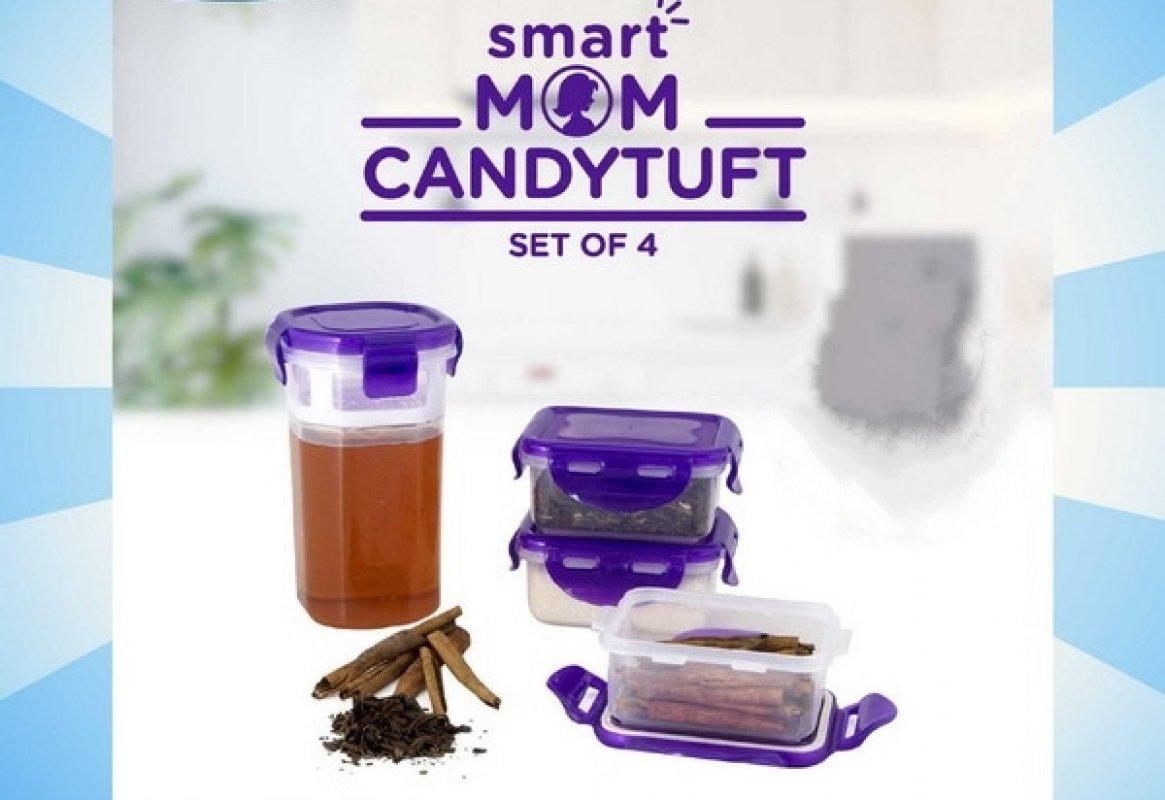 Cover Buku Smart Mom Candytuft Set Of 4: Tempat Penyimpanan Yang Aman Dan Anti Tumpah