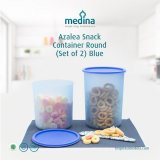 Azalea Snack Container Round (Set Of 2) Blue