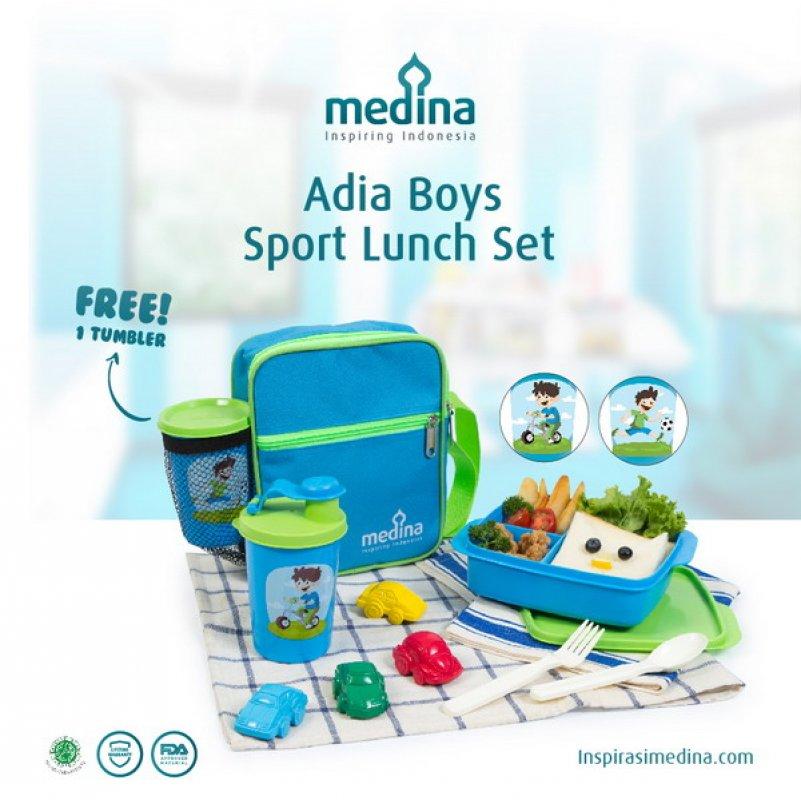 Cover Buku Adia Boys Sport Lunch Set: Tempat Bekal Sibuah Hati