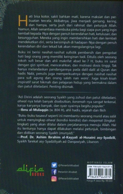 Cover Belakang Buku THAHARATUL QULUB: Nasihat-Nasihat Sufistik Pembersih Dan Pengobat Hati