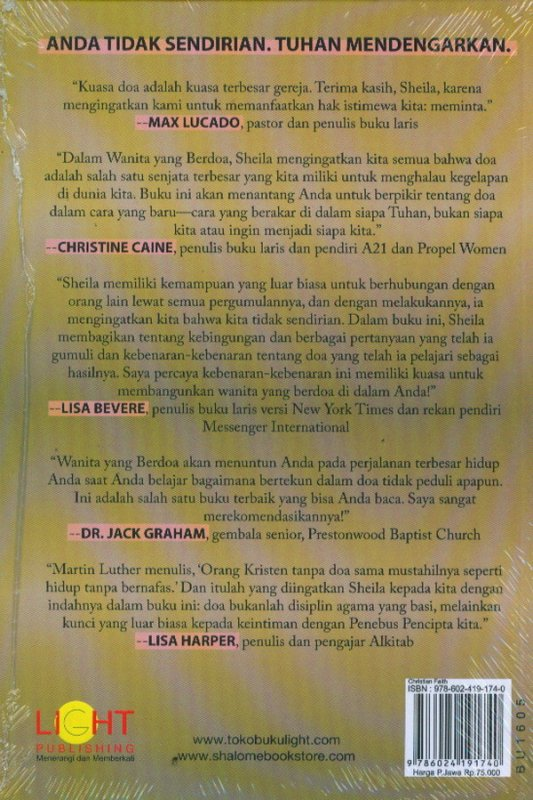 Cover Belakang Buku Praying Women: Perempuan Yang Berdoa