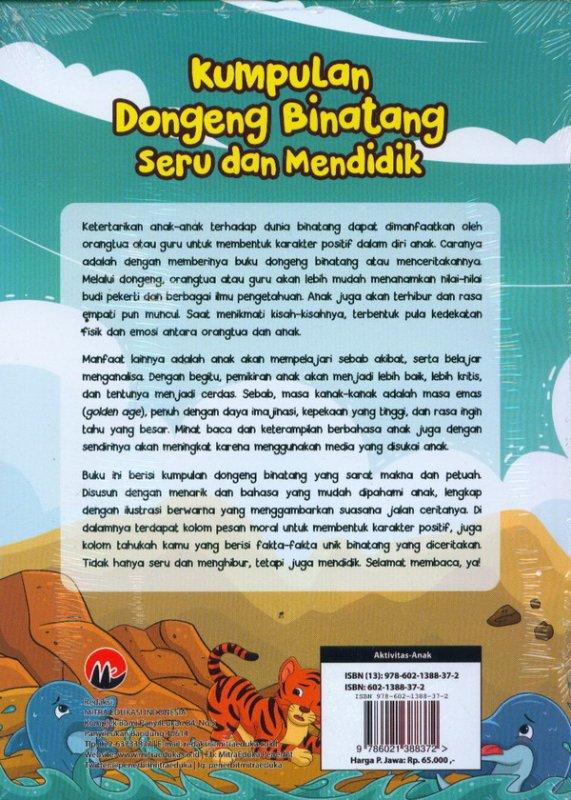 Cover Belakang Buku Kumpulan Dongeng Binatang Seru Dan Mendidik