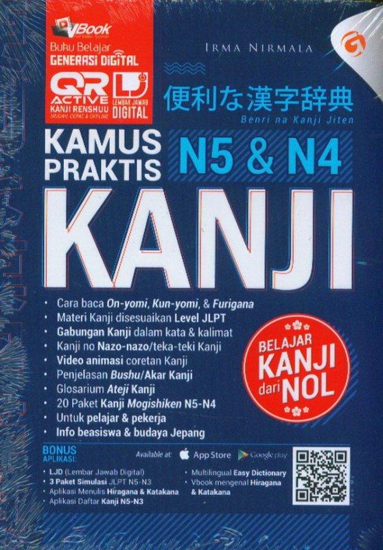 Cover Buku Kamus Peraktis Kanji N5-N4