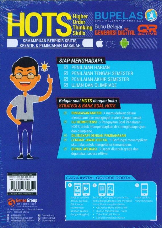 Cover Belakang Buku Strategi & Bank Soal Hots Matematika SMP/MTS Kelas 7,8,9