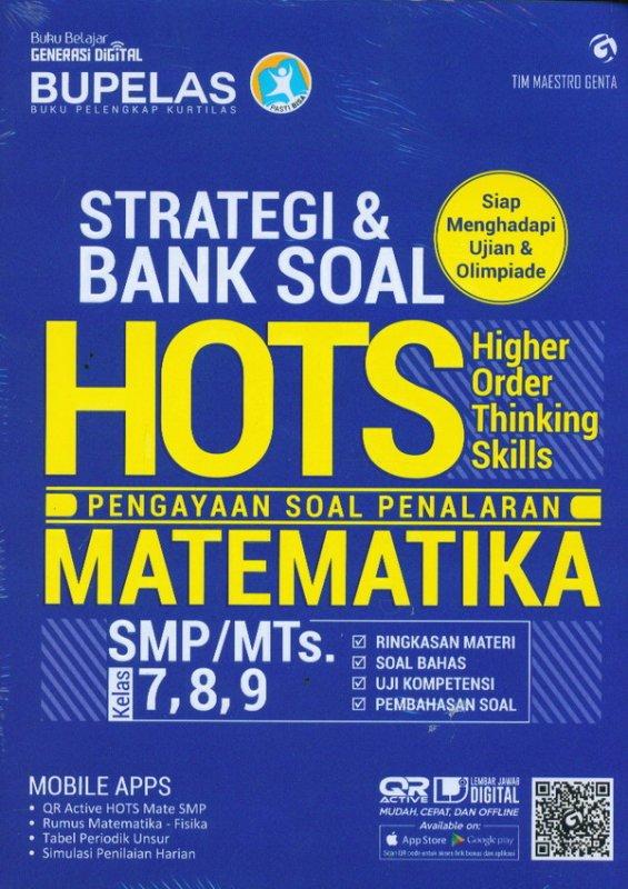 Cover Buku Strategi & Bank Soal Hots Matematika SMP/MTS Kelas 7,8,9