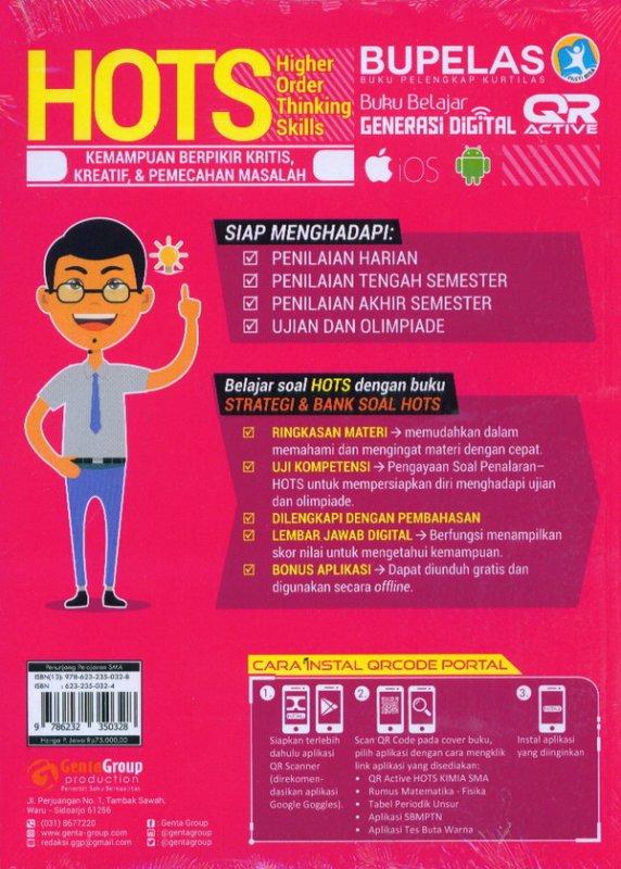Cover Belakang Buku Strategi & Bank Soal Hots Kimia SMA/MA Kelas 10,11,12