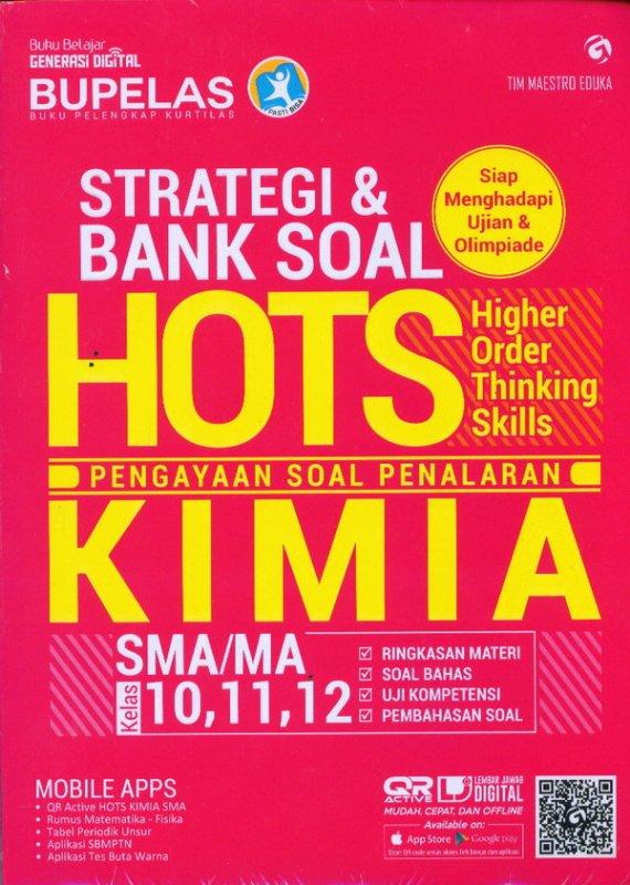 Cover Buku Strategi & Bank Soal Hots Kimia SMA/MA Kelas 10,11,12