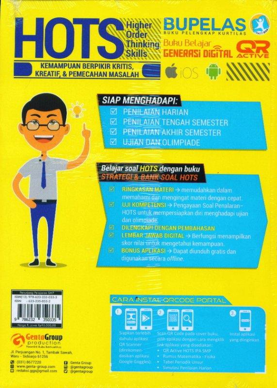 Cover Belakang Buku Strategi & Bank Soal Hots IPA SMP/MTS Kelas 7,8,9
