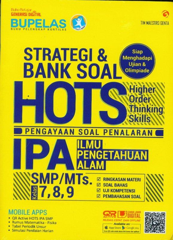Cover Buku Strategi & Bank Soal Hots IPA SMP/MTS Kelas 7,8,9