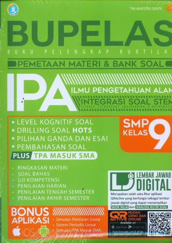 Cover Buku Bupelas Pemetaan Materi & Bank Soal IPA SMP Kelas 9