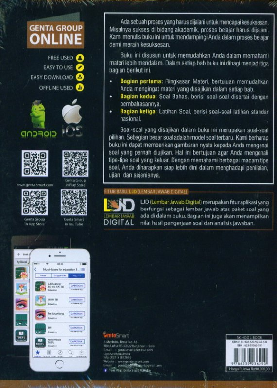 Cover Belakang Buku Best Score 100 Bank Soal MATEMATIKA SD/MI Kelas 4,5,6