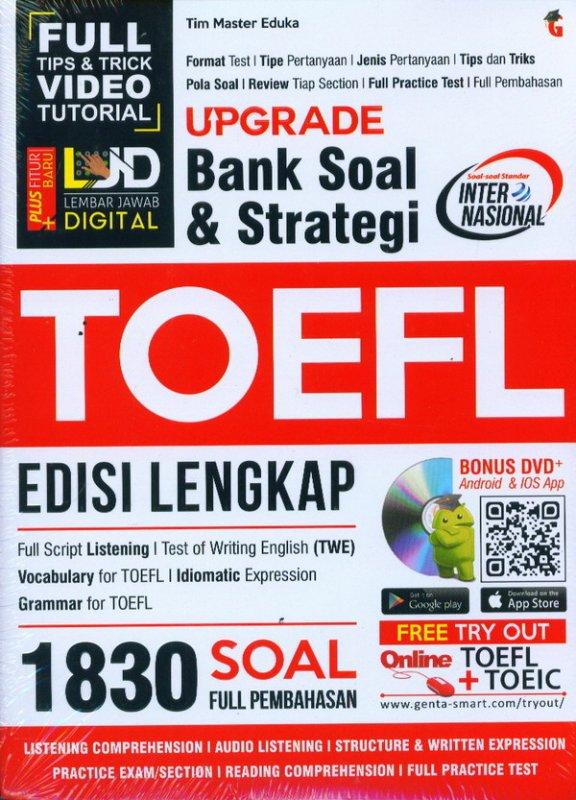 Cover Buku Upgrade Bank Soal & Strategi Toefl Edisi Lengkap