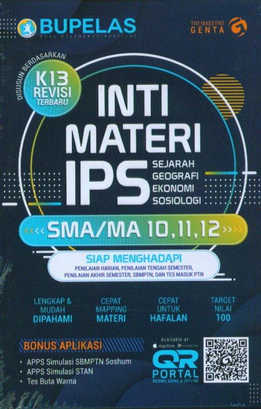 Cover Buku Inti Materi IPS SMA/MA Kelas 10,11,12