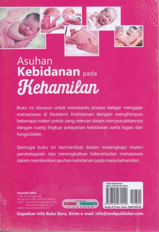 Cover Belakang Buku Asuhan kebidanan pada kehamilan ( cover baru )