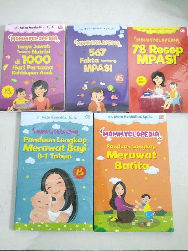 Cover Buku Paket 5 Buku Seri Mommyclopedia dr Meta