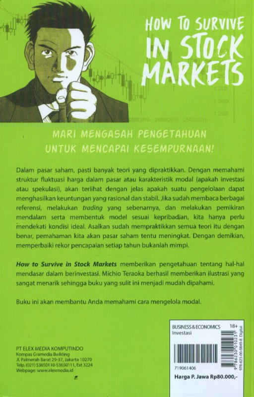 Cover Belakang Buku Investment Guide Series: How To Survive In Stock Markets