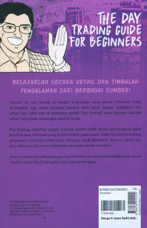 Cover Belakang Buku Investment Guide Series: The Day Trading Guide For Beginners