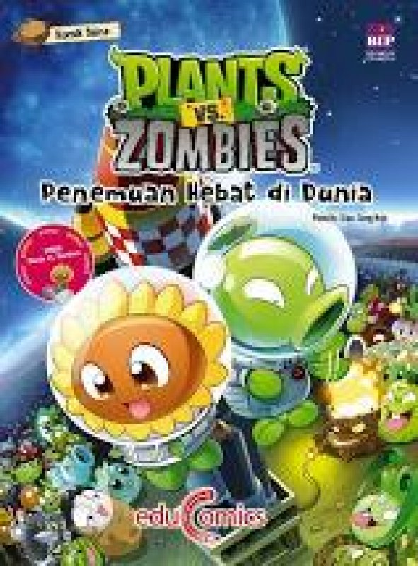 Cover Buku Educomics Plants Vs Zombies : Penemuan Hebat Di Dunia