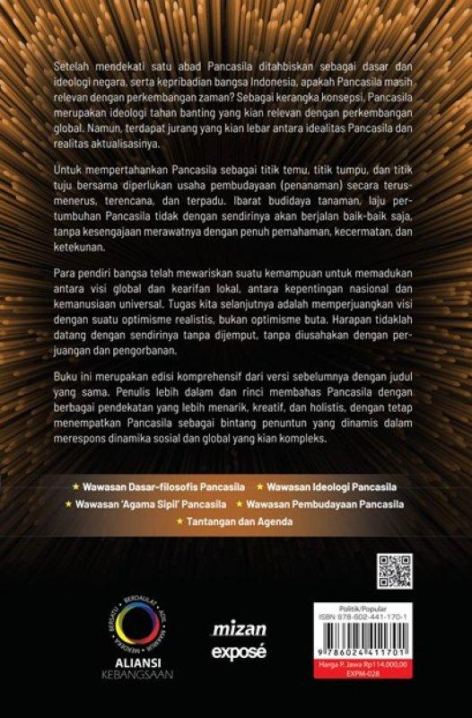 Cover Belakang Buku Wawasan Pancasila - ED. Komperhensif Bintang Penuntun Untuk Kebudayaan