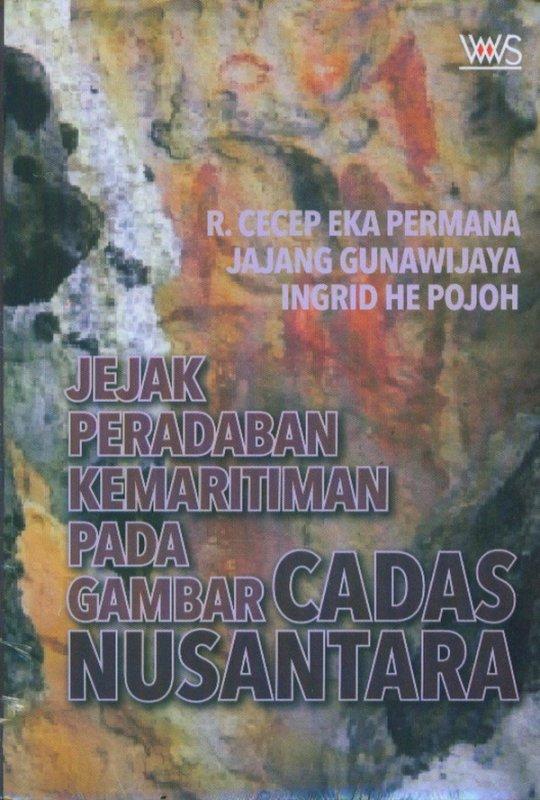 Cover Buku Jejak Peradaban Kemaritiman Pada Gambar Cadas Nusantara