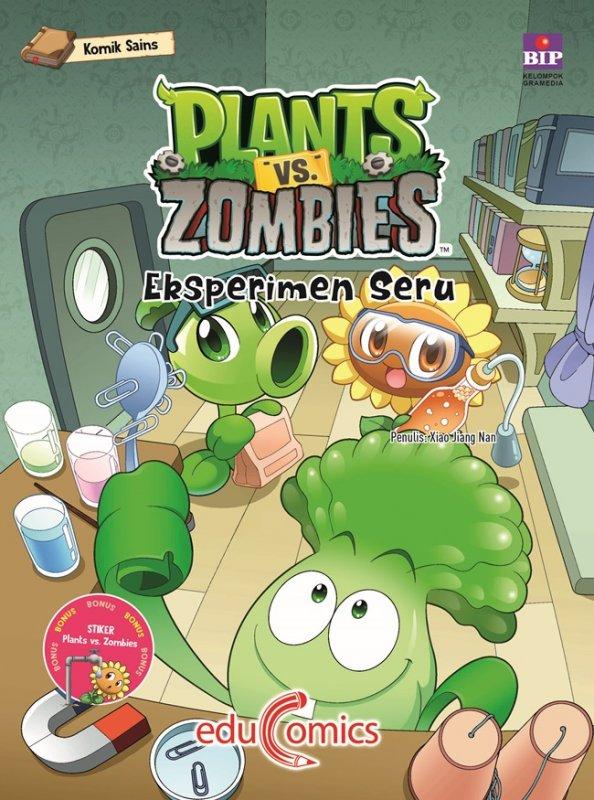 Cover Buku Educomics Plants Vs Zombies : Eksperimen Seru