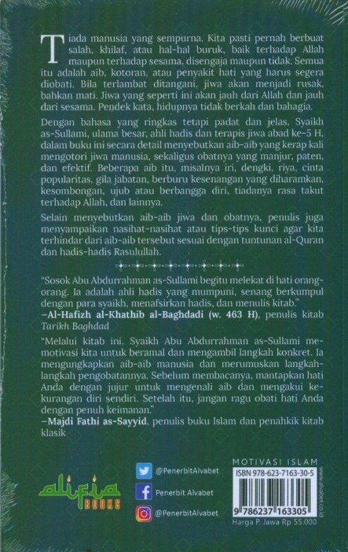 Cover Belakang Buku Aib Jiwa Dan Obatnya