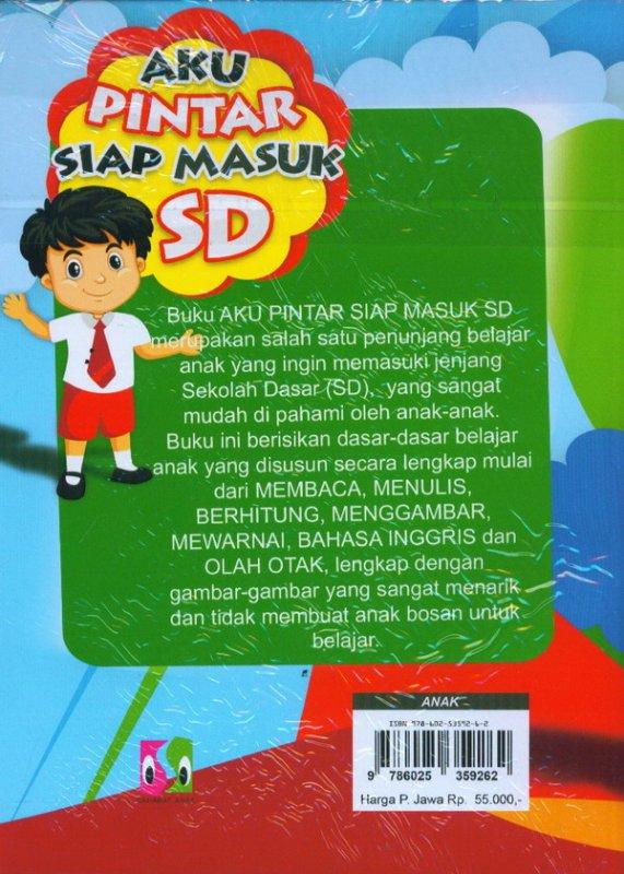 Cover Belakang Buku Aku Pintar Siap Masuk SD