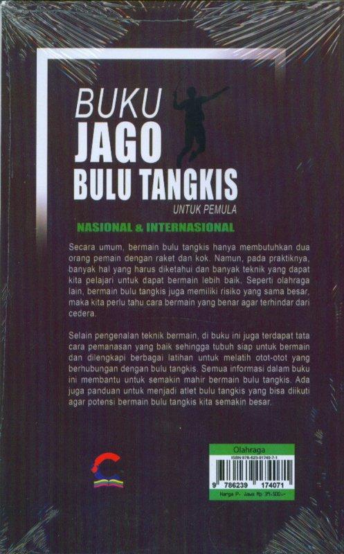 Cover Belakang Buku Buku Jago Bulu Tangkis Untuk Pemula