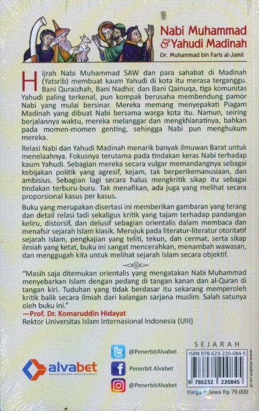 Cover Belakang Buku Nabi Muhammad & Yahudi Madinah