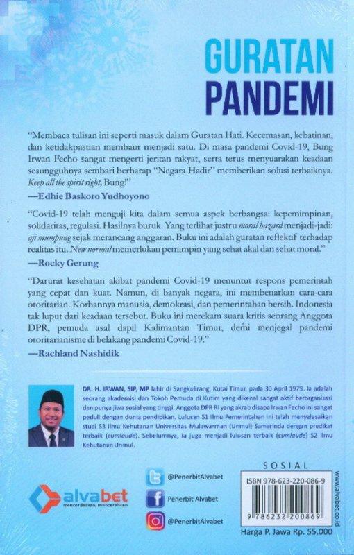 Cover Belakang Buku Guratan Pandemi