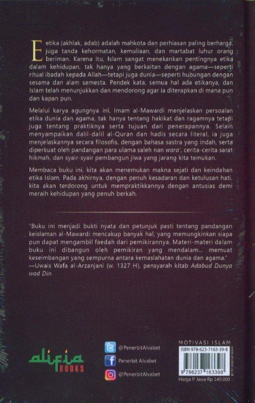 Cover Belakang Buku Adabud Dunya Wad Din