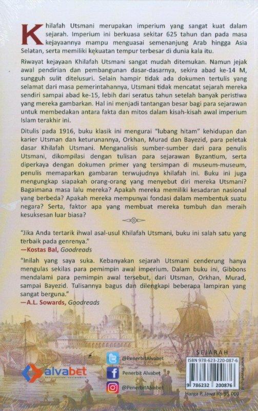 Cover Belakang Buku Jejak Awal Khilafah Utsmani