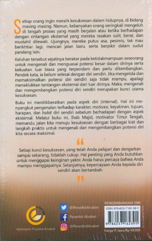Cover Belakang Buku Sukses Dari Diri Sendiri