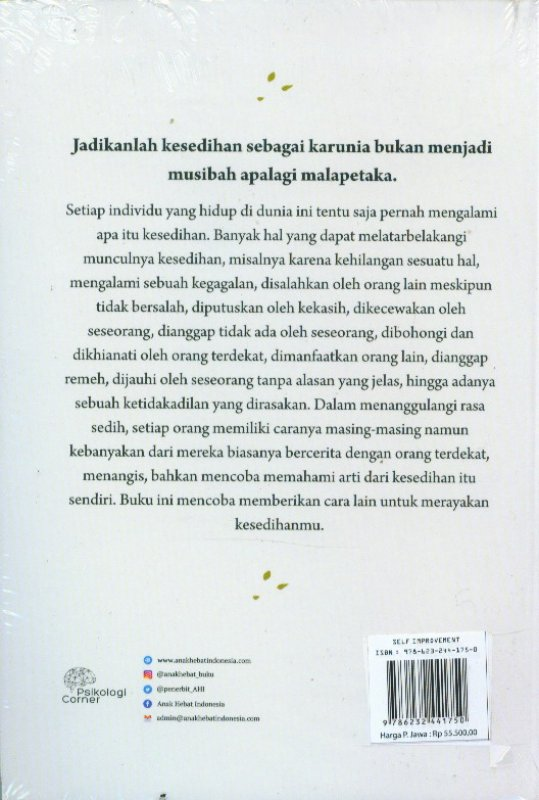 Cover Belakang Buku Cast Away Your Sadness