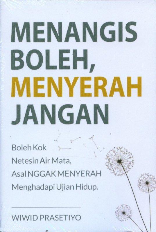 Cover Buku Menangis Boleh, Menyerah Jangan