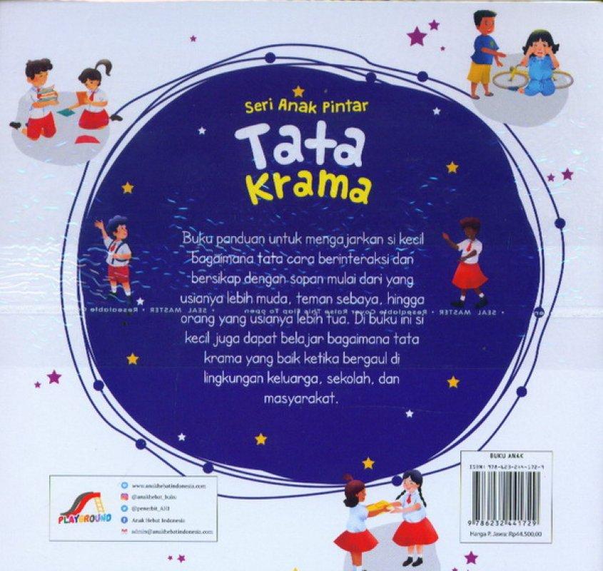 Cover Belakang Buku Seri Anak Pintar: Tata Krama