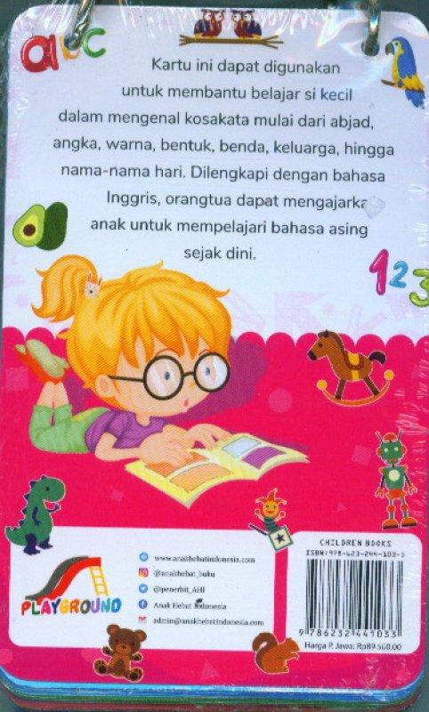 Cover Belakang Buku Kartu Asyik Belajar & Bermain Kosakata