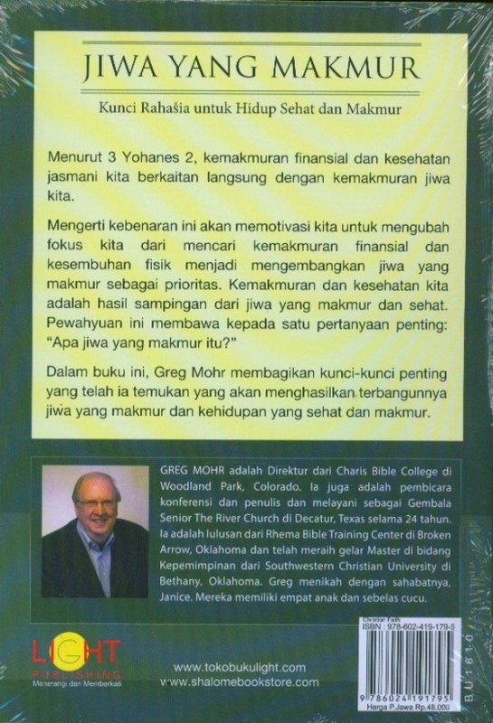 Cover Belakang Buku Jiwa Yang Makmur