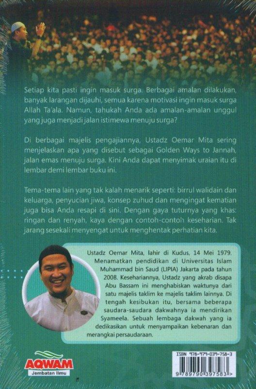 Cover Belakang Buku Golden Ways To Jannah: Untaian Hikmah Ustadz Oemar Mita