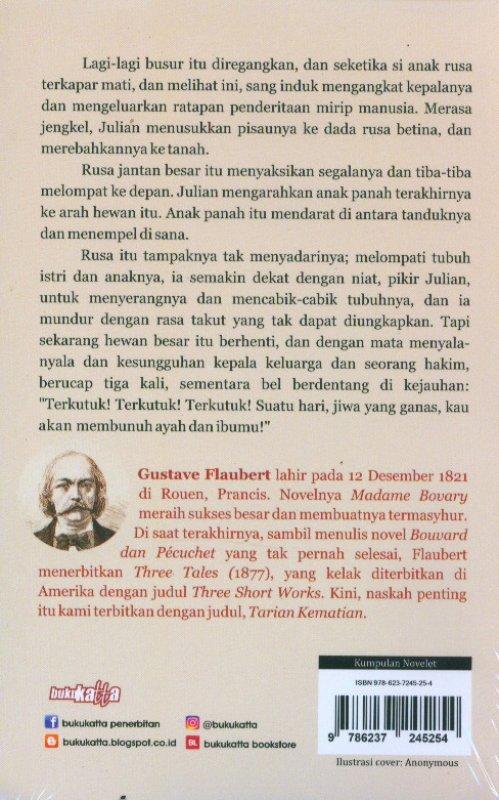 Cover Belakang Buku Tarian Kematian Edisi Free Blocknote