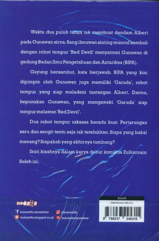 Cover Belakang Buku GARUDA Edisi Komik