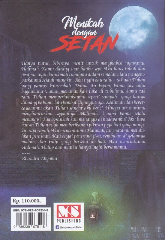 Cover Belakang Buku Menikah Dengan Setan
