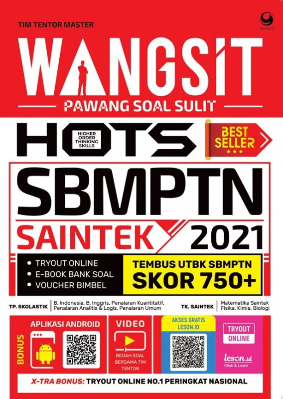 Cover Buku Wangsit (Pawang Soal Sulit) Hots Utbk Sbmptn Saintek 2021